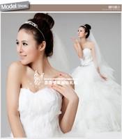 Wedding dress 2013 feather wedding dress white natural feather bridal wedding qi