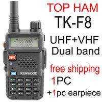 kendio tk-f8 th f8 tk f8 walkie talkie two-way radio uhf vhf dual band portable amateur radio tranceiver earpiece  baofeng uv 5r