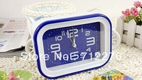 Mute sweep seconds rectangle fashion creative alarm clock alarm 2013 best-selling fashion and personality