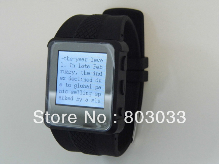 Free Shipping mp4 watch ebook 2GB with alarm button for exam(China (Mainland))