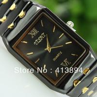 Awesome! Fashion Square Black Analog Men's Man Gentleman Quartz Wrist Watch Free Shipping