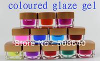 Freeshipping 12colors Coloured Glaze UV Gel Pro Beauty Salon Nail tool 100% New Brand Acrylic Decoration 508