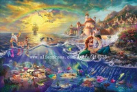 Thomas Kinkade prints Original oil painting The Little Mermaid reproduction on canvas office Home decor modern wall painting