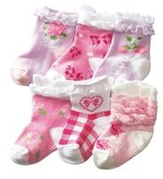 Socks lace socks gentlewomen laciness rustic baby jacquard socks