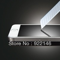 Tempered GlassScreen Protector for iphone 5 With Free Button Free Shipping for iphone5