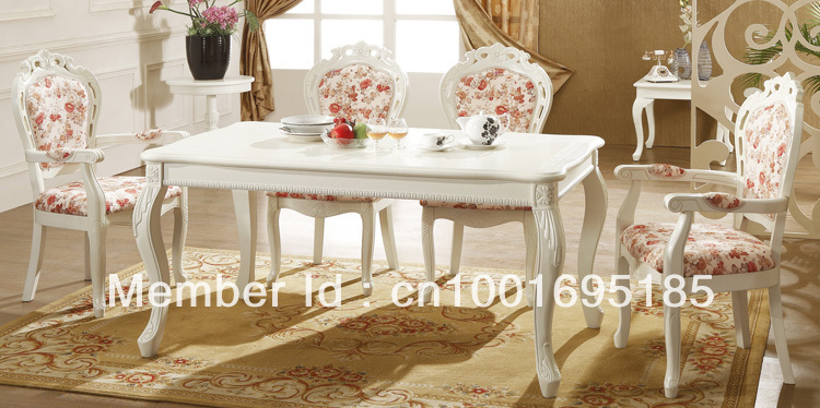 2013 nice white dining table with 4 chiars(China (Mainland))