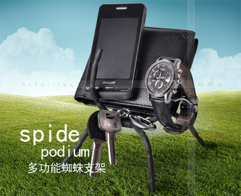 Crazy!Wholesale!2013 Items New Arrival Free Shipping  cell phone display 4s 5 4 phone holder spider stand  mobile display stand