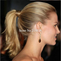 Hot New Synthetic Fiber hairpiece wig Ponytail Elastic Hair Rope/Holers Hair band  hair rings