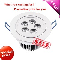 freeshipping 6pcs/lot 5W high quality high power Ceiling Recessed Lights,led downlight,down light housing+Warm White/Cool White