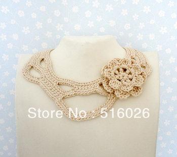 vintage Crochet lace Collar Choker Necklace Wedding necklaceSummer Fashion Crochet Bib necklace, boho chic 2 pcs/lot
