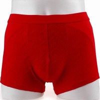 Panties male bamboo fibre boxer panties four angle male shorts