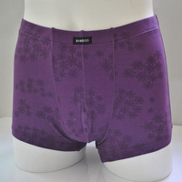 Male panties bamboo fibre men's trunk elastic boxer shorts 406383