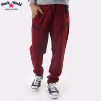 Boys spring child clothing trousers child casual sports health pants spring and autumn thin pants