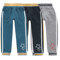 Child fleece casual sports pants wei pants push-up skinny pants male female child autumn and winter plus velvet trousers long