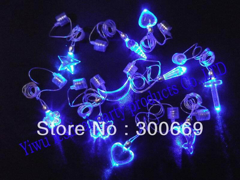Free shipping! LED necklace ,wedding flash led necklace, party gift , decorations ,Glow necklace,Luminous pendant,led pendant(China (Mainland))