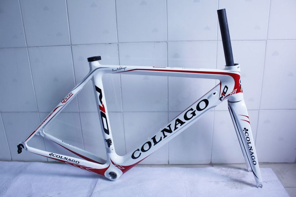 EMS free shipping NEW Genuine White Colnago M10 carbon frames road bicycle bike Frame+fork+headset SIZE:42/45/48/50/52/54/56CM(China (Mainland))