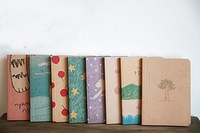 free shipping Korea stationery s003 vintage mini soft copy pocket diary pure white