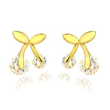 Small accessories cherry zircon stud earring elegant bow earrings gentlewomen 2013 170