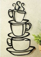 Coffee House Cup Java Silhouette Wall Art  Mug Wall decals