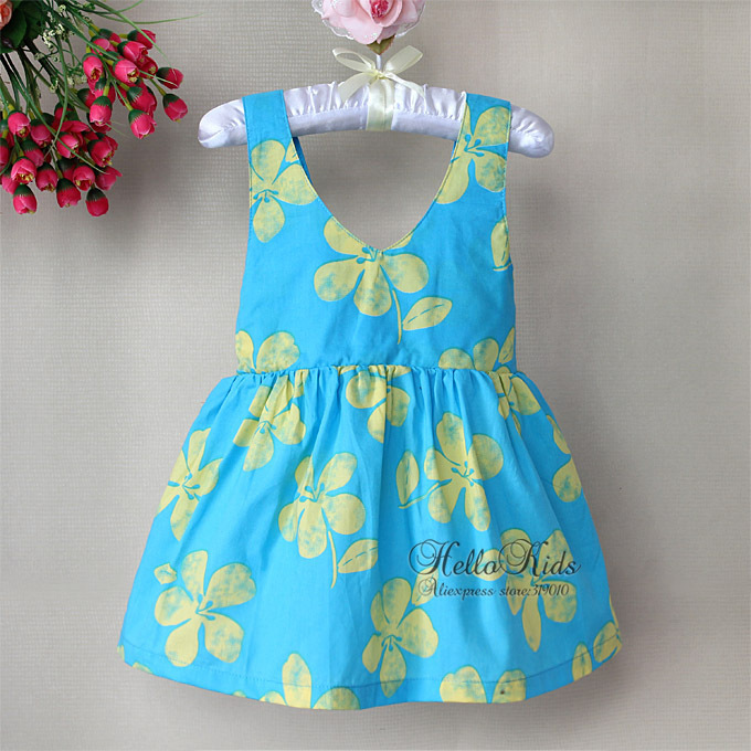Summer Dresses Baby Fairy Girls Dress Tutus Princess Flower Dresses Kids Clothing 6 PCS/LOT H121122-12(China (Mainland))