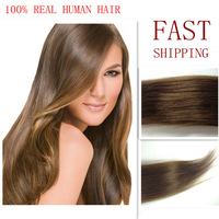 24 26 inch Mix color 100% clip in Indian Hair Extension Mix Length Long straight clip on hair extensions Fast shipping