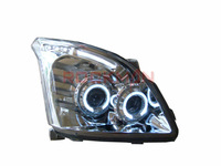 Headlamps with Xenon Kit for Toyota Landcruiser Prado FJ120 2003-2009 ( LHD ) Chrome Bottom+Projector Angel Eyes Free Shipping