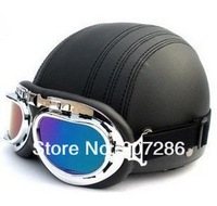 Free Shipping Hot Goggles Motorcycle Half Face Motorbike Victory Helmet Motorcycle Racing stripe Helmet 130404 black