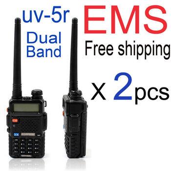 baofeng walkie talkie baofeng radio baofeng uv 5r uv5r handheld uhf vhf radio station portable ham radio transceiver by EMS +