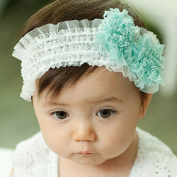 2013 spring and autumn skin lace child hair band baby hair bands(China (Mainland))