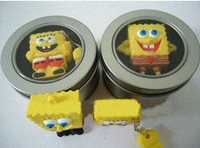 2013 New arrival discount,rubber sponge bob mix 2.0 usb flash drive,30/lot 1GB2GB,4GB,8GB,16GB,32GB