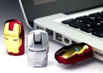 2014 HOT Iron Man LED USB Flash Drive 4GB 8GB 16GB 32GB 64GB Free Shippin