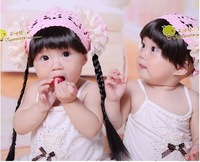 2012 baby boy ribbon hair accessory hairpin wig accessories tails fringe hair band