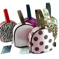 Bodan female leopard print cosmetic bag polka dot fancy wrist length bag with handle day clutch