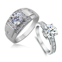 Luxury wedding ring jpf 925 pure silver ring female lovers ring female pure silver lovers ring male