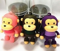 2014 HOT 4GB 8GB 16GB 32GB Lovely cartoon monkey shape color option USB 2.0 flash memory Pen drive