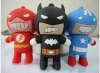 24GB 8GB 16GB 32GB Cartoon Batman The Flash Super Man USB flash memory drive Pen Captain America U disk