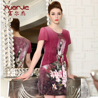 2013 new arrival summer fashion silk medium-long one-piece dress mulberry silk