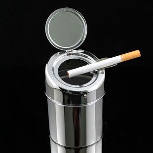 Automatic stainless steel ashtray portable ashtrays car ashtray metal ashtray(China (Mainland))