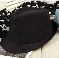 Fashion hat black fedoras hat fedoras male