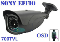 35LEDS high quality 700TVL Effio 1/3 Sony CCTV Varifocal lens Outdoor bullet camera 2.8-12mm lens IR Camera,+ Free shipment