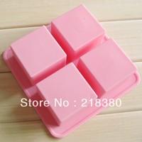 DIY Baking mould handmade soap silica gel mould brick square single hole soap 120