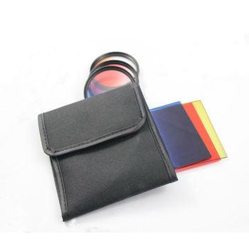 Filter bag case storage bag 3 pockets for square color filter  circular camera filter