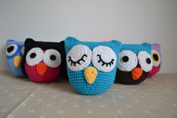 30pcs/lot Baby Toy Owl Plush OWL doll, soft Crochet OWL 5 inches Animal Shape baby dolls,Boy/girl's Puppets Free shipping(China (Mainland))
