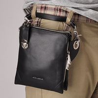 2013 casual cowhide cross-body bag men outside sport small waist pack male genuine leather chest pack