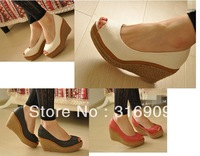 2013 fashion wedges princess open toe customize size single pumps G307