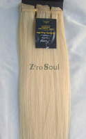 "ZS AAA+ Hot Sell:15""-22"" Clip Straight Hair Extension 75g Light Blonde,#613,Free Shipping"