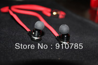 Wholesale--4 colors  3.5mm L plug earphone  DJ Earphone Headset with 8 ear buds and       carry case