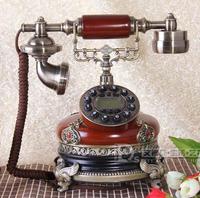Vintage fashion antique telephone backlight hands-free telephone wood phone caller id telephone gift
