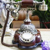 Antique telephone swivel plate rotating , fashion phone antique telephone resin telephone