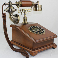 2014 Special Offer Sale Telephones Telefon Bookpass Songzanganbu Antique Telephone Natural Solid Wood Fashion Classic Vintage